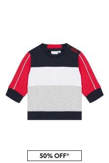 Boss Kidswear Red Cotton Sweat Top