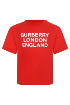 Burberry Kids Baby Cotton Logo T-Shirt