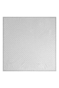 GUCCI Kids Grey GG Wool Baby Blanket