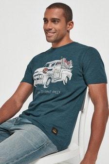 Navy Car Graphic T-Shirt