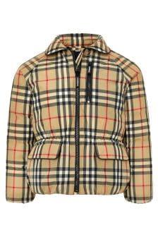 Burberry Kids Girls Beige Jacket