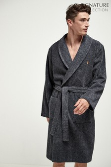 Slate Towelling Dressing Gown