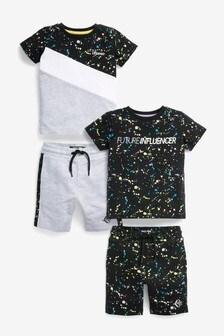 Splat 2 Pack T-Shirt And Shorts Set (3mths-7yrs)