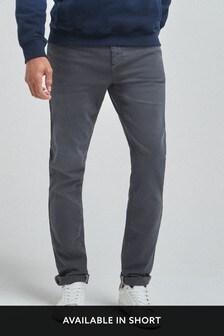 Mid Grey Stretch Jeans