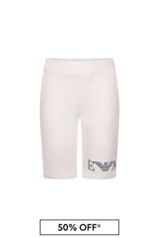 Emporio Armani White Cotton Shorts