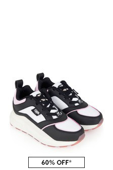 Karl Lagerfeld Girls Multi-Coloured Leather & Suede Trainers