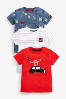 Taxi 3 Pack Appliqué T-Shirts (3mths-7yrs)