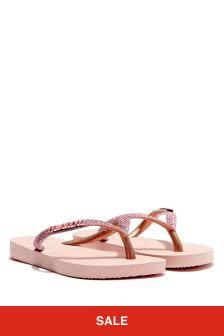 Havaianas Girls Glitter Flip Flops