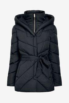 Black Double Layer Padded Jacket