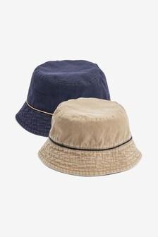 Navy/Stone Reversible Bucket Hat