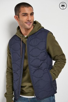 Navy Shower Resistant Quilted Gilet