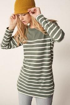 Khaki Striped Tunic