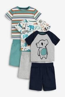 Blue Koala 3 Pack Short Pyjamas (9mths-12yrs)