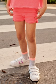 Fluro Pink Jersey Shorts (3-16yrs)