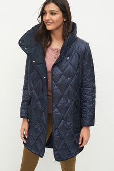 Blue/Red Quilted Patch Pocket Jacket