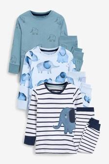 Blue Elephant 3 Pack Snuggle Pyjamas (9mths-8yrs)