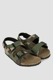 Birkenstock Boys Khaki Milano Sandals