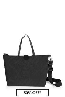 Versace Baby Black Logo Changing Bag