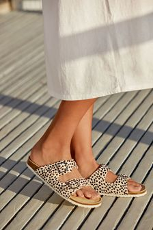 Dalmatian Two Band Footbed Mules