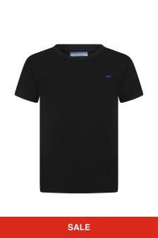 Jacob Cohen Boys Black Cotton T-Shirt