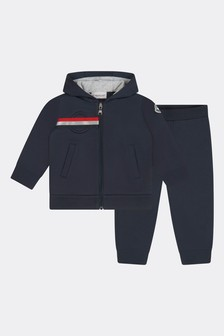 Moncler Enfant Baby Boys Navy Cotton Tracksuit