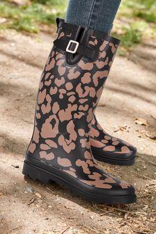 Leopard Wellies
