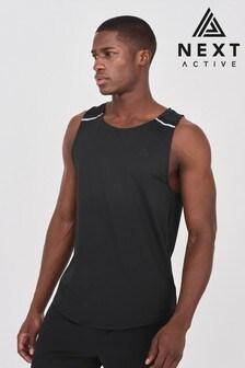Black Next Active Sports Vest