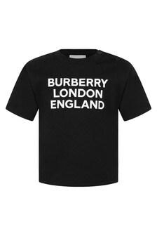 Burberry Kids Baby Cotton Logo T-Shirt