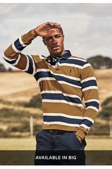 Tan/Navy Stripe Rugby Shirt
