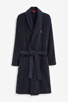 Navy Towelling Dressing Gown