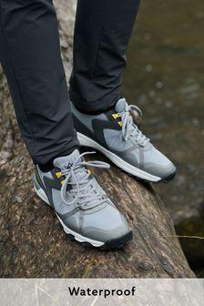 Grey Duratrek Waterproof Trainers