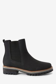 Black Forever Comfort® Chunky Casual Chelsea Boots