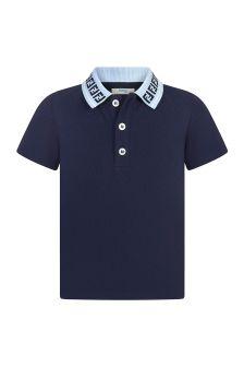 Fendi Kids Cotton Polo Top