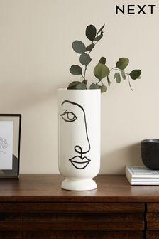 White Face Vase