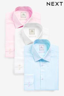 Blue/Pink/White Shirts Three Pack