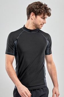 Black Active Rash Vest