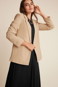 Camel Relaxed Soft Crepe Blazer