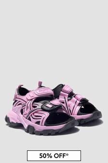 Balenciaga Kids Girls Pink Sandals