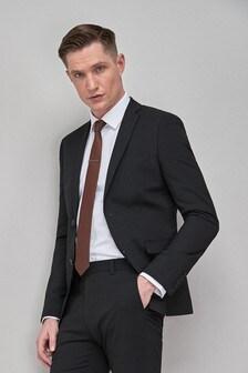 Black Stretch Tonic Suit: Jacket