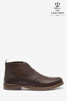 Brown Waxy Finish Leather Chukka Boots