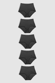 Black Microfibre Knickers 5 Pack