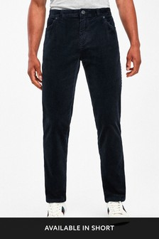Navy Jean Style Cord Trousers