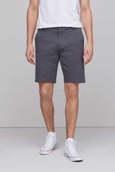 Charcoal Stretch Chino Shorts