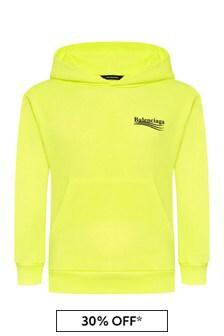 Balenciaga Kids Yellow Cotton Hoody