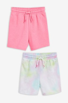 Tie Dye 2 Pack Loopback Jersey Shorts (3-16yrs)