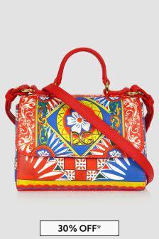 Dolce & Gabbana Kids Dolce & Gabbana Girls Red Leather Bag