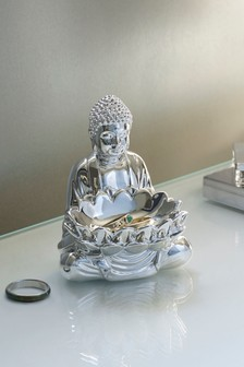 Silver Buddha Ring Holder