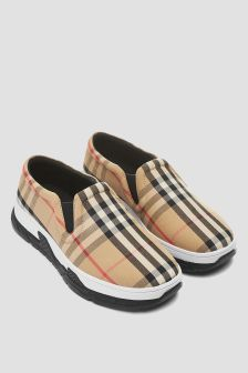 Burberry Kids Beige Trainers