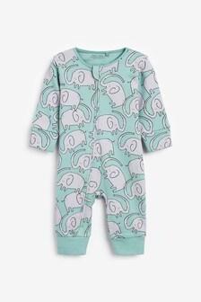 Blue Elephant Sleepsuit