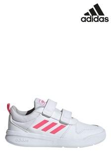 Girls Pink \u0026 White Adidas Sneakers